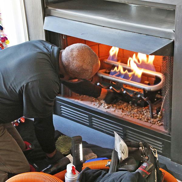 gas fireplace insert repair in Winchester VA