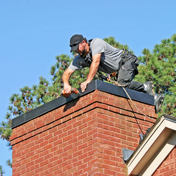chimney chase cover install in Martinsburg WV