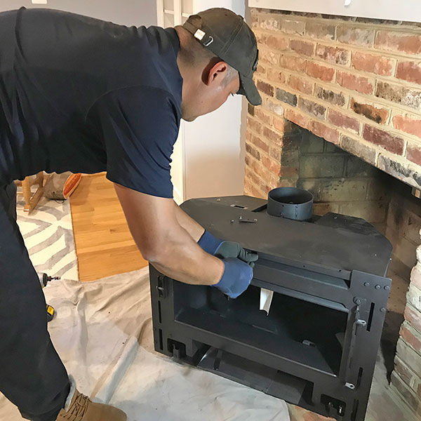 Fireplace insert installs in Thurmont MD