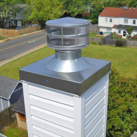 Installed Chimney Case Cover
