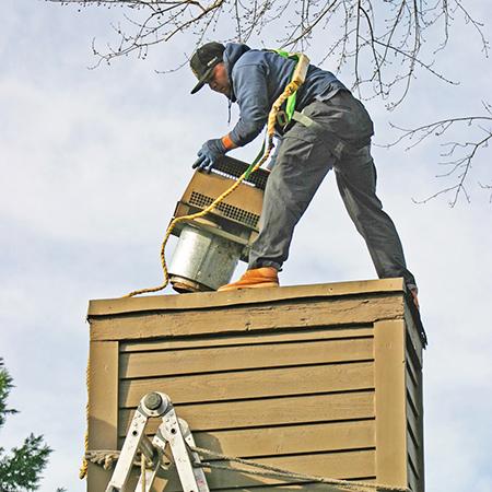 Installing Chimney Cap