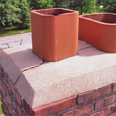 Cracked Chimney Crowns