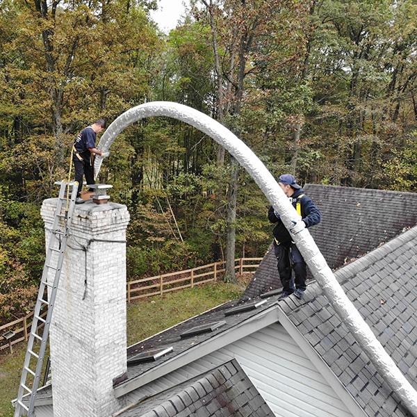 chimney flue liner repair in Mount Airy MD
