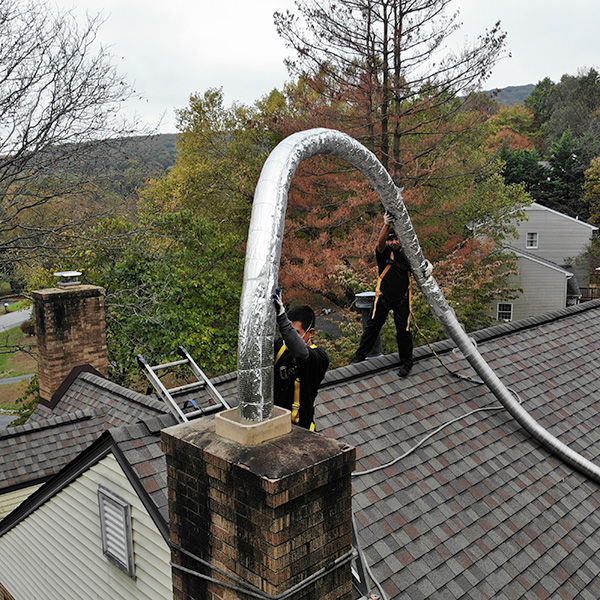 Chimney flue liner repair in Emmitsburg MD